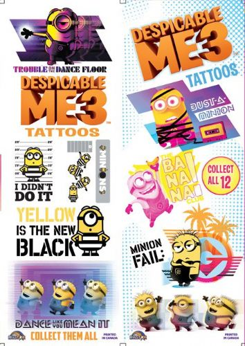 FLATPACK - Despicable Me Tattoos (Series 3) x 300